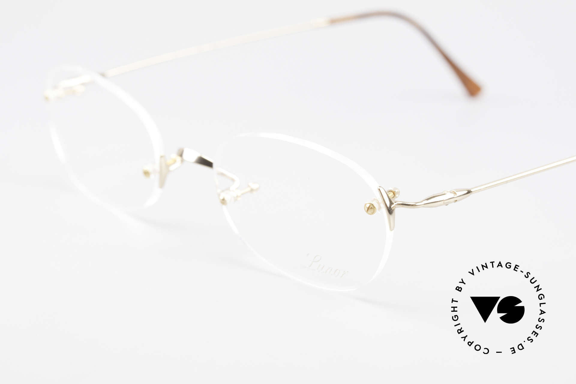 Lunor Classic Future GP Rare Vintage Frame Rimless, unworn RARITY (for all lovers of quality) from app. 1999, Made for Men and Women