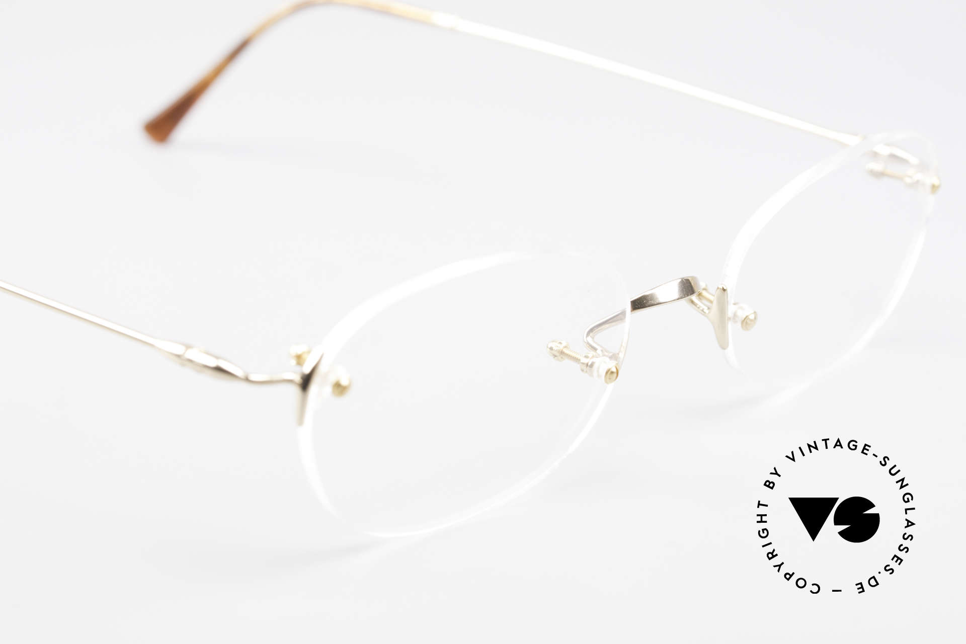 Lunor Classic Future GP Rare Vintage Frame Rimless, NO RETRO EYEGLASSES; but a luxury vintage ORIGINAL, Made for Men and Women