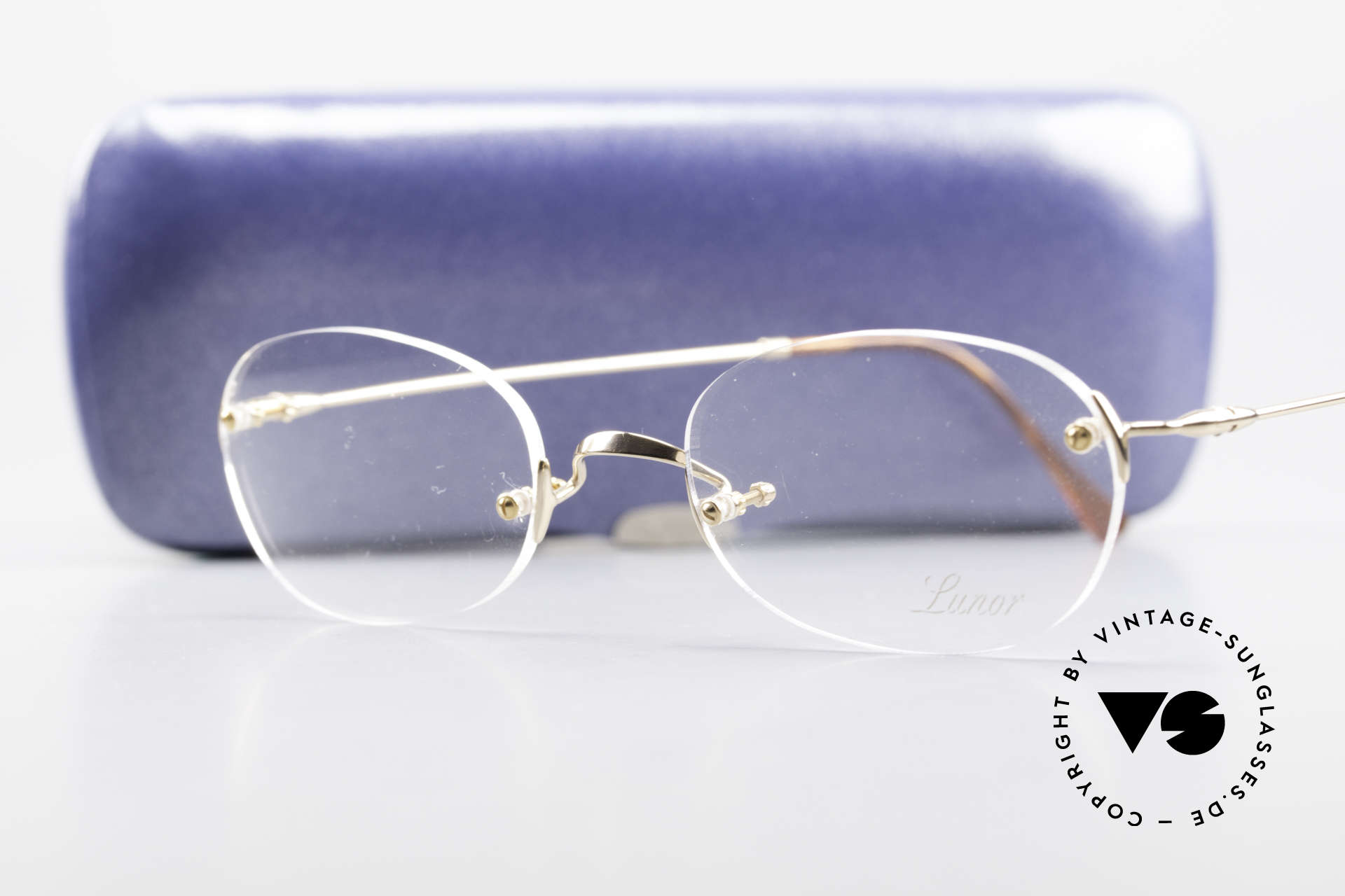 Lunor Classic Future GP Rare Vintage Frame Rimless, Size: small, Made for Men and Women