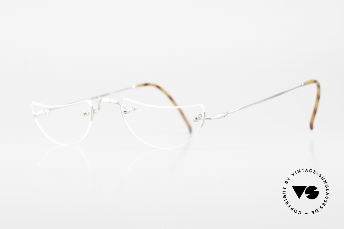"Lunor Classic Reading Rimless Reading Eyeglasses, well-known for the ""W-bridge"" & the plain frame designs, Made for Men and Women"