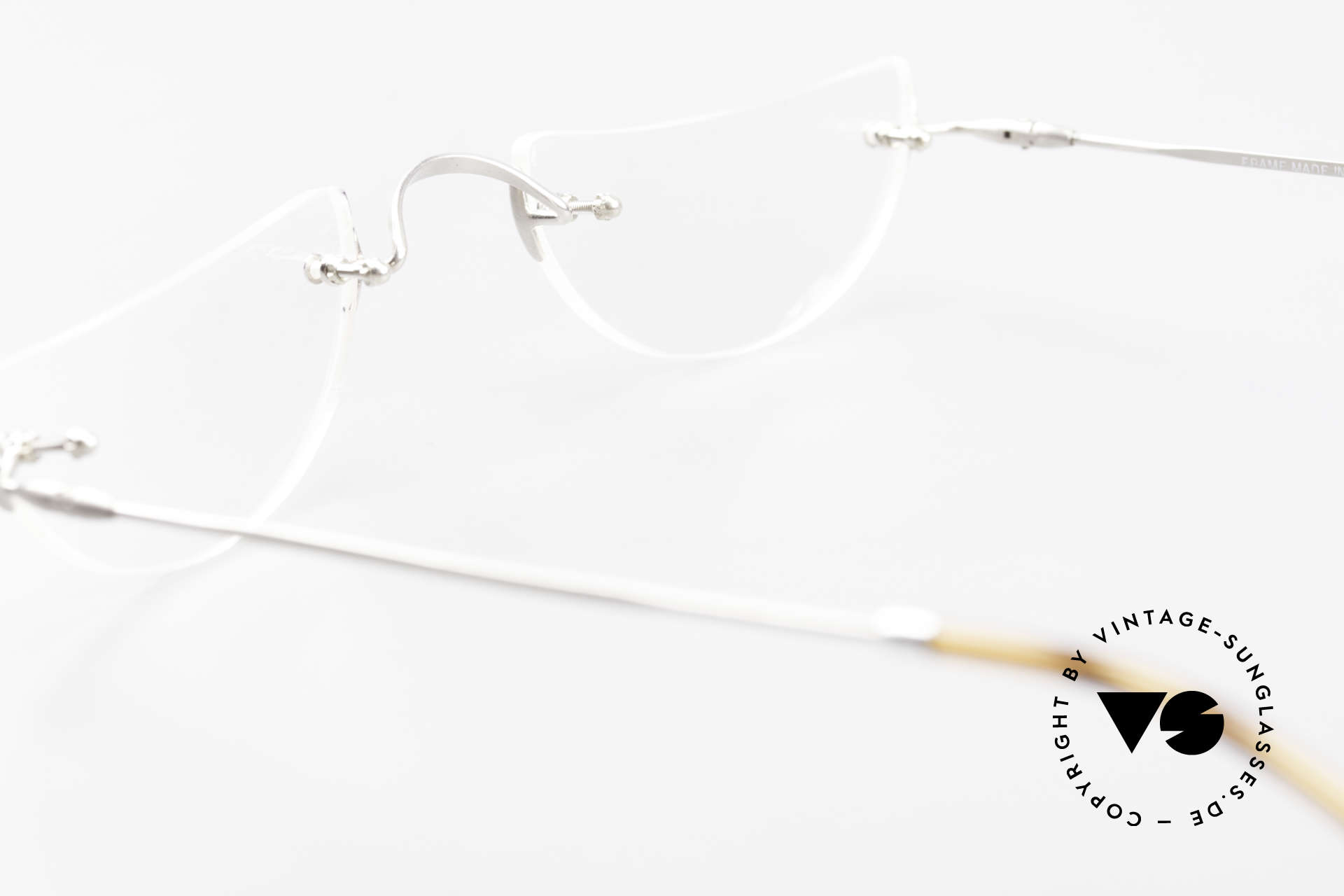 Lunor Classic Reading Rimless Reading Eyeglasses, the LUNOR reading frame comes with an orig. Lunor case, Made for Men and Women