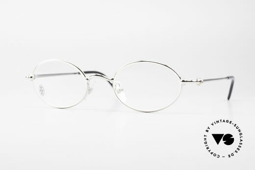 Cartier Filao Oval Frame Luxury Platinum Details