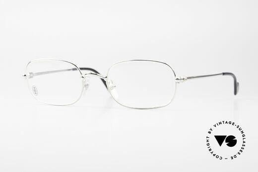 Cartier Deimios Square Frame Luxury Platinum Details