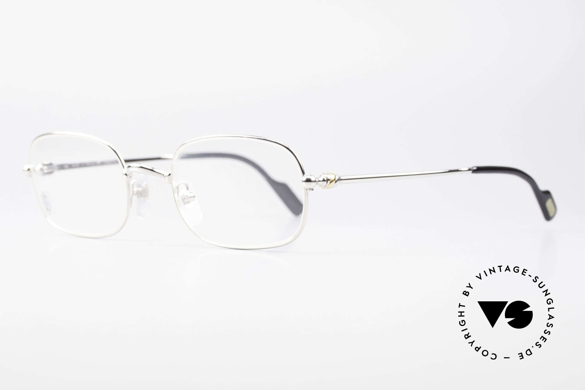 Cartier Deimios Square Frame Luxury Platinum, costly 'Platine Edition' (frame with platinum finish), Made for Men and Women