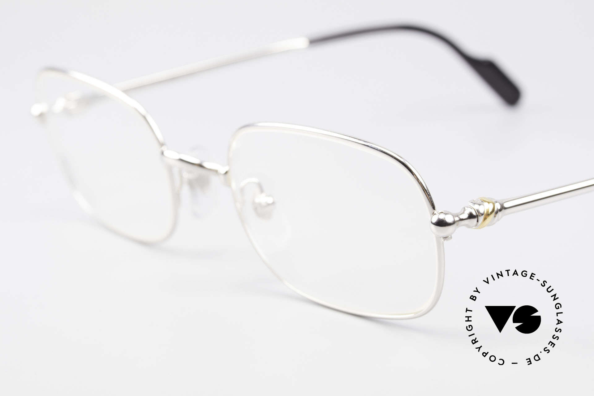 Cartier Deimios Square Frame Luxury Platinum, unworn luxury frame with original box and booklets, Made for Men and Women