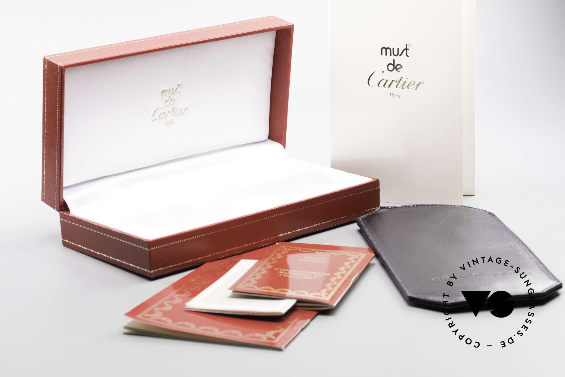 Cartier Deimios Square Frame Luxury Platinum, NO retro eyeglasses; an old original from app. 1999!, Made for Men and Women