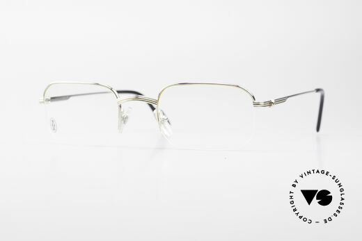 Cartier Broadway Semi Rimless Platinum Frame Details
