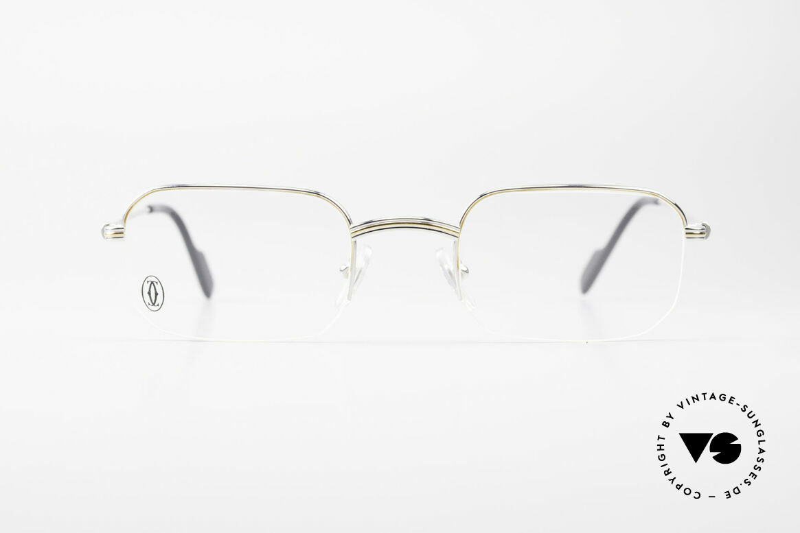 Cartier Broadway Semi Rimless Platinum Frame, men's model of the Cartier 'Semi Rimless' Collection, Made for Men