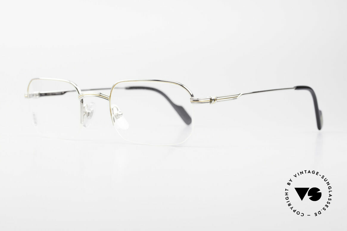 Cartier Broadway Semi Rimless Platinum Frame, costly 'Platine Edition' (frame with platinum finish), Made for Men