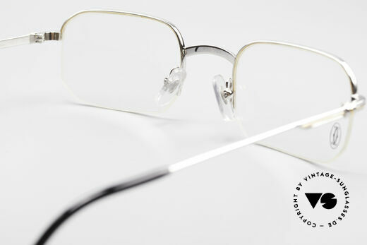 Cartier Broadway Semi Rimless Platinum Frame, NO retro eyeglasses; an old original from app. 1999!, Made for Men