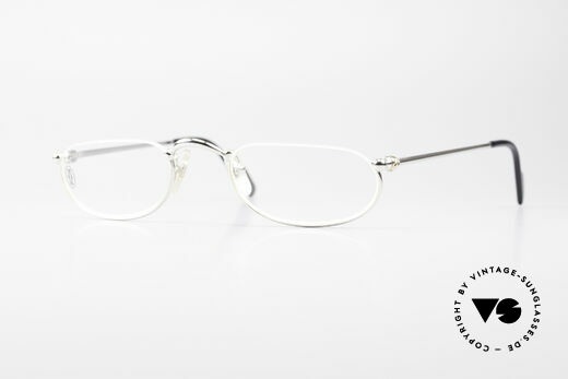Cartier Demi Lune 2000 Oval Reading Frame Platinum Details