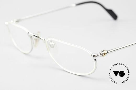 Cartier Demi Lune 2000 Oval Reading Frame Platinum