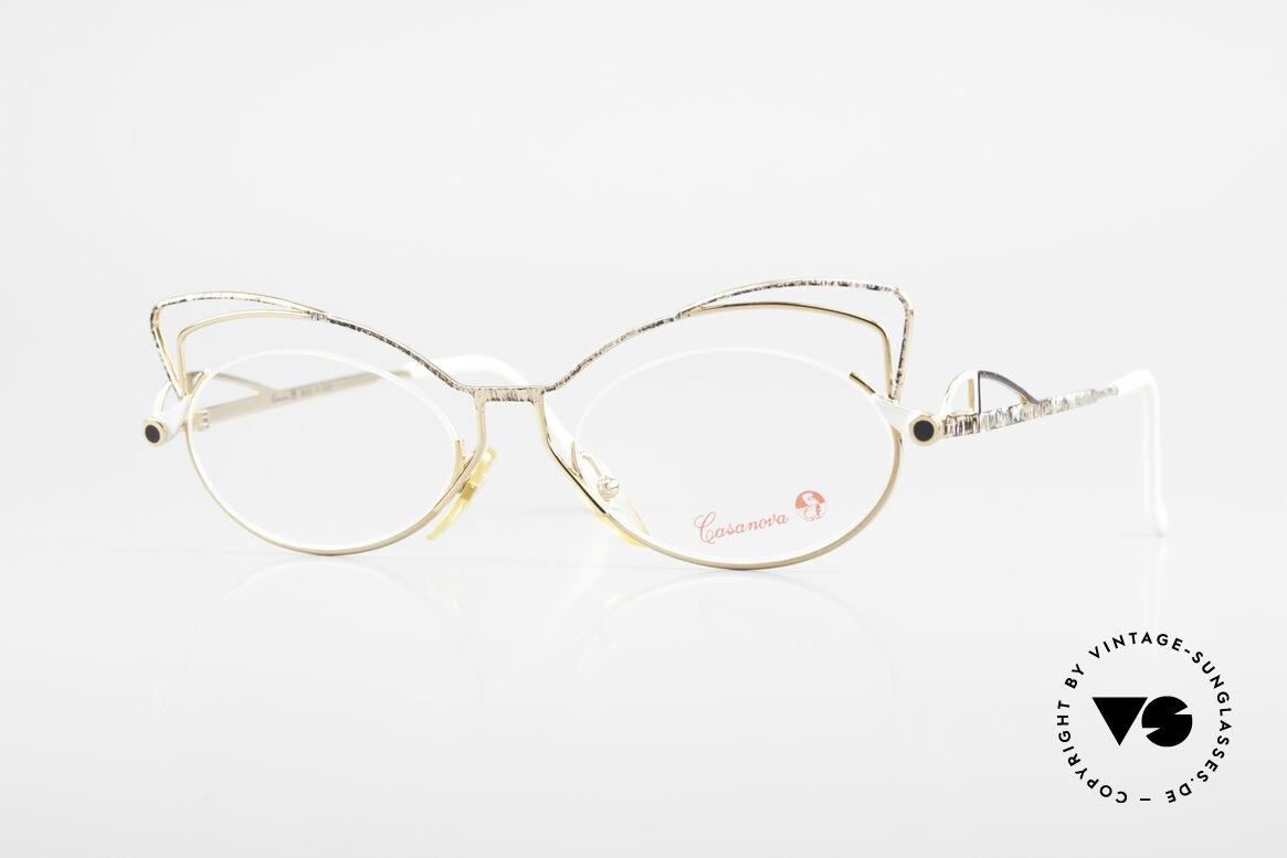 Casanova LC2 Enchanting Ladies Eyeglasses, glamorous CASANOVA eyeglasses from around 1985, Made for Women