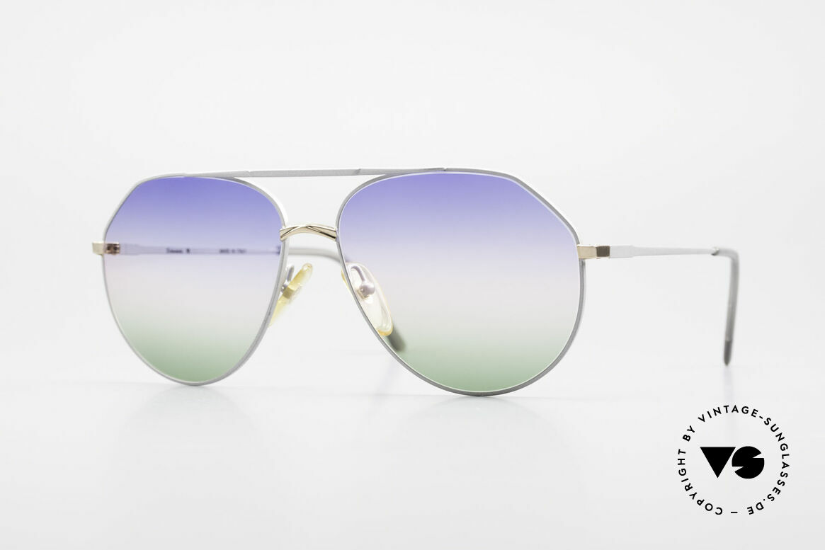 Casanova 6052 Titanium Aviator Sunglasses, ultra rare CASANOVA aviator sunglasses of the 80's, Made for Men and Women