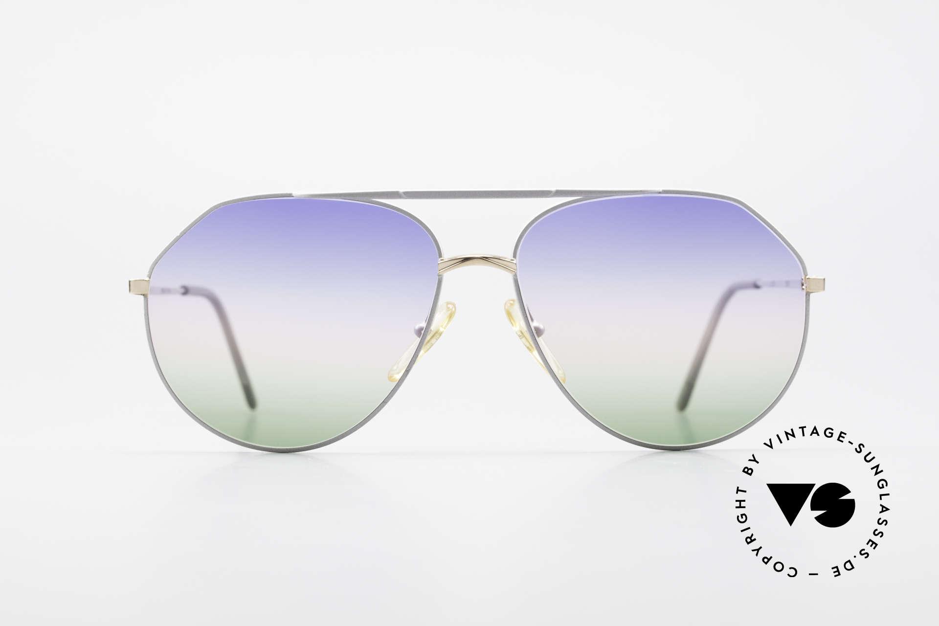 Casanova 6052 Titanium Aviator Sunglasses, titanium frame with gold-plated bridge and hinges, Made for Men and Women