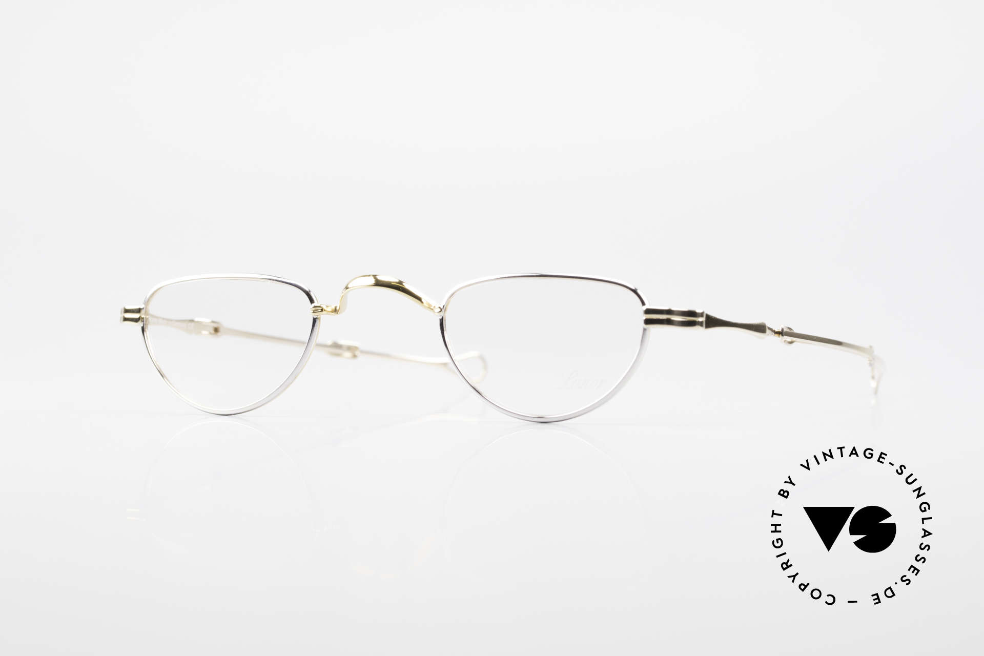 "Lunor I 06 Telescopic Extendable Reading Frame, Lunor: shortcut for French ""Lunette d'Or"" (gold glasses), Made for Men and Women"