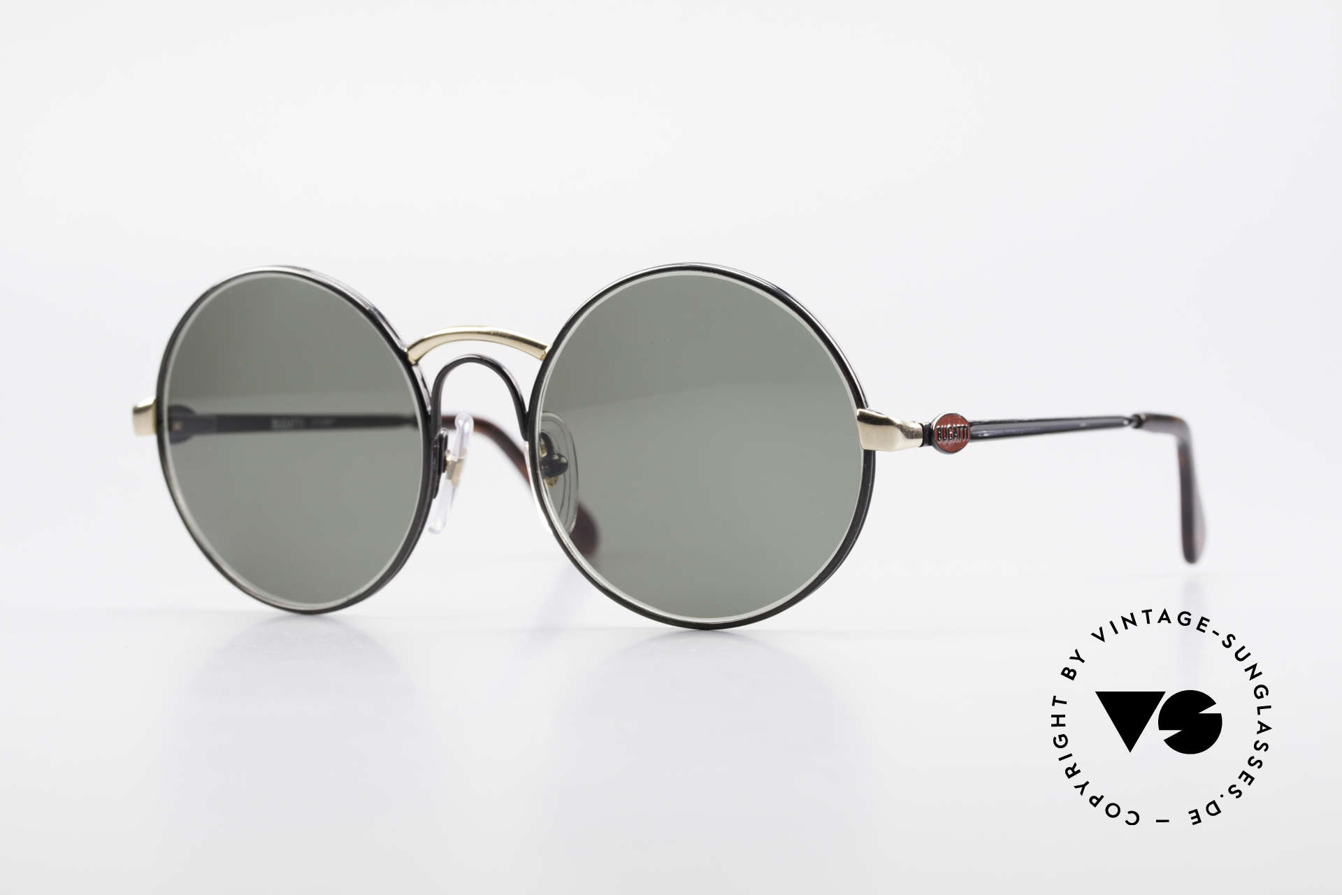 Bugatti 03327R Limited Edition Round Bugatti, round vintage Bugatti sunglasses 03327R from the 80's, Made for Men and Women