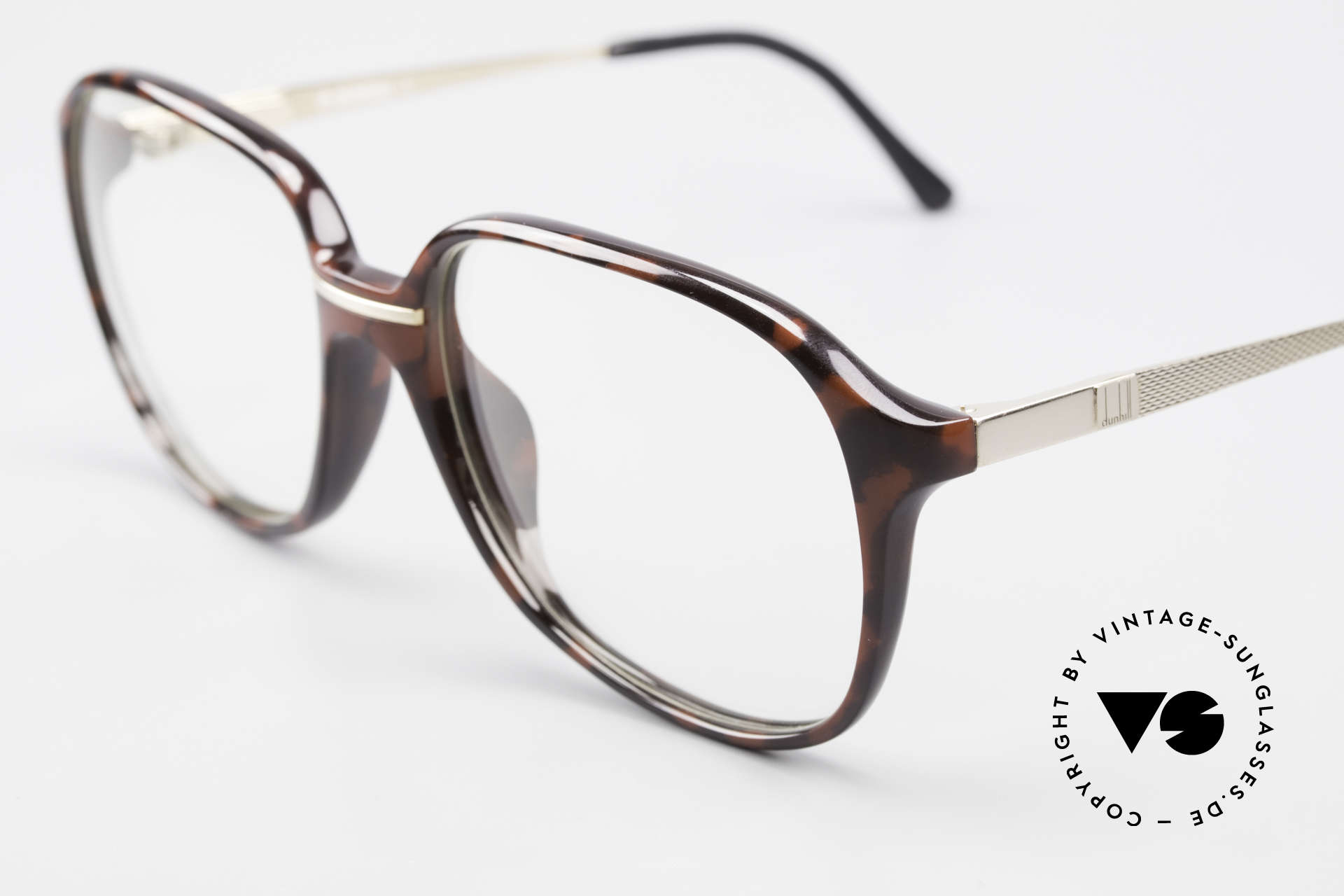 Dunhill 6137 90's Vintage Optyl Eyeglasses, gold-plated Barley temples & flexible spring hinges, Made for Men