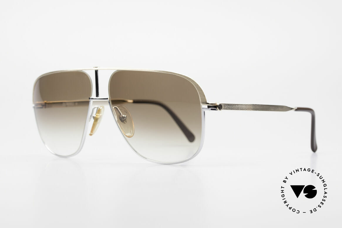 Dunhill 6019 80's Gentlemen Luxury Shades, frame is hardgold-plated & chrome-plated, + orig. case, Made for Men