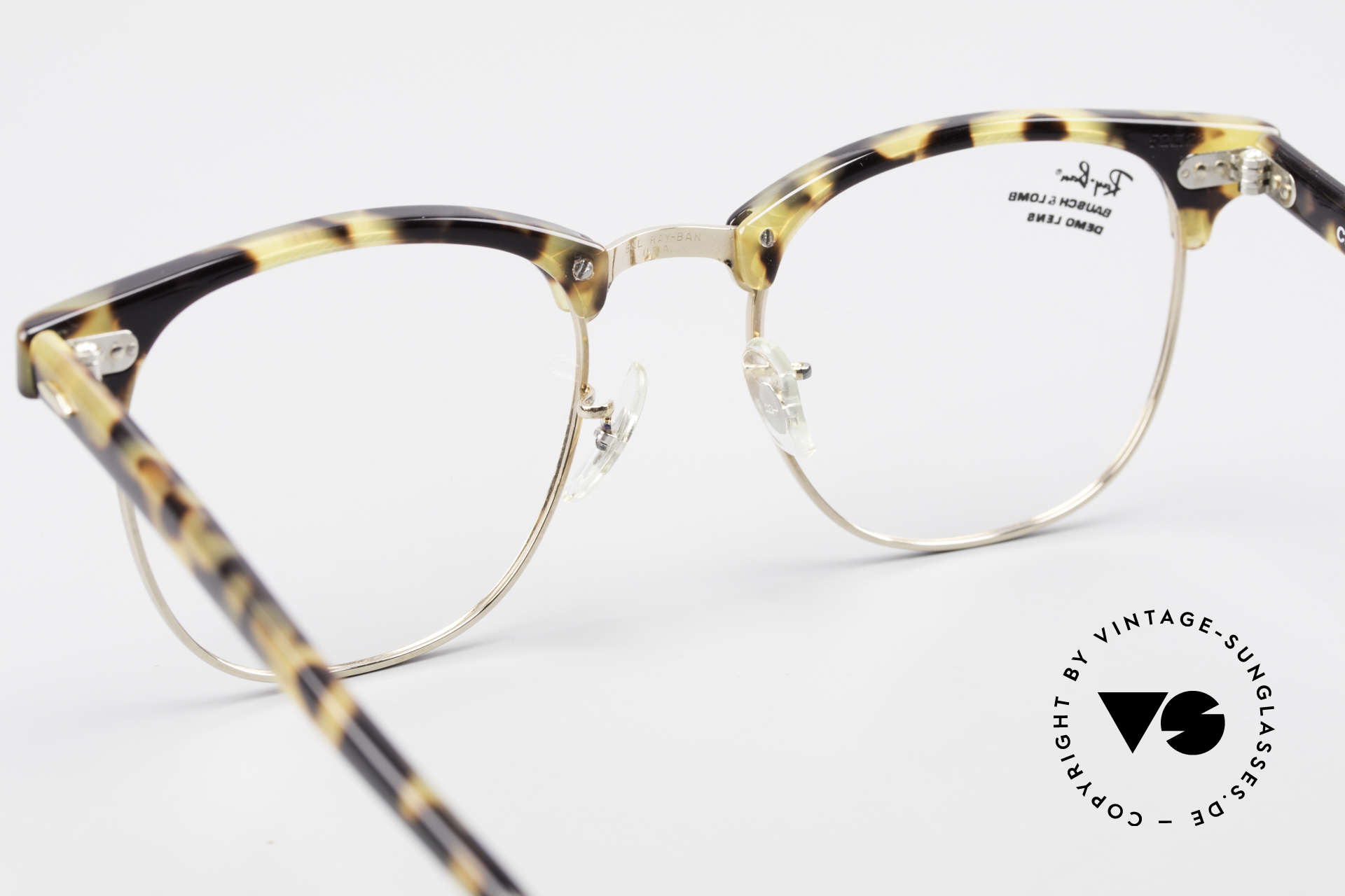 Ray Ban Clubmaster II Large Limited Edition USA B&L, never worn; like all our vintage Ray Ban frames, Made for Men