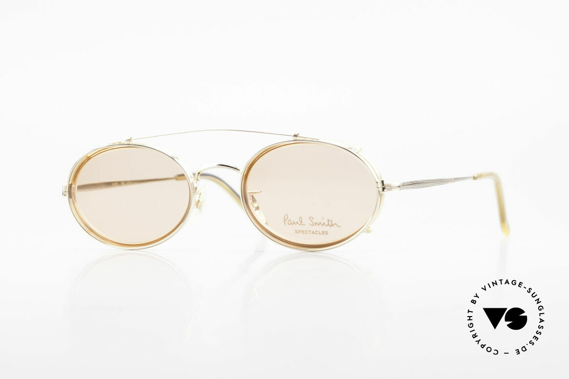Paul Smith PSR108 Oval Vintage Frame With Clip, Paul Smith vintage glasses from the late 80's/early 90's, Made for Men and Women