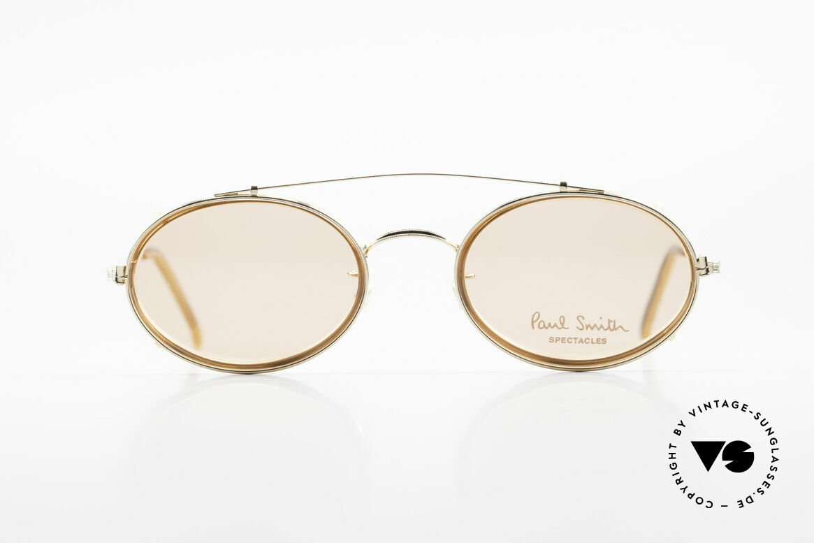 Paul Smith PSR108 Oval Vintage Frame With Clip, the time before PS Spectacles became licensed products, Made for Men and Women