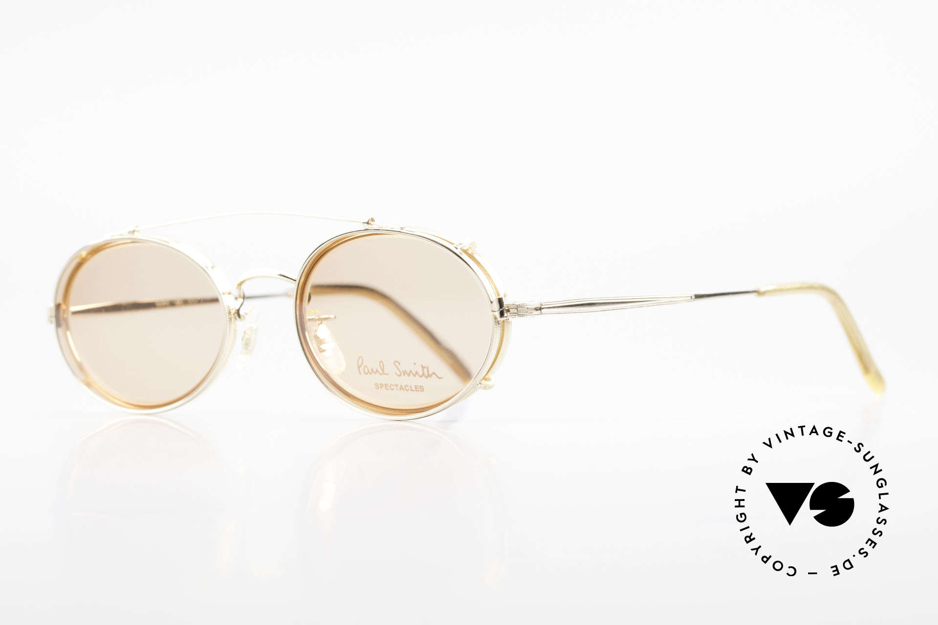 Paul Smith PSR108 Oval Vintage Frame With Clip, this rare OLD Paul Smith Original is still 'made in Japan', Made for Men and Women