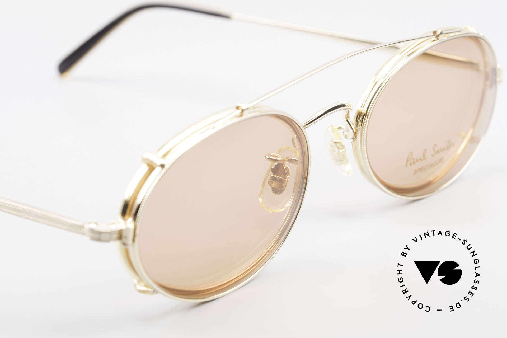 Paul Smith PSR108 Oval Vintage Frame With Clip, UNWORN oval frame with practical sun clip (100% UV), Made for Men and Women