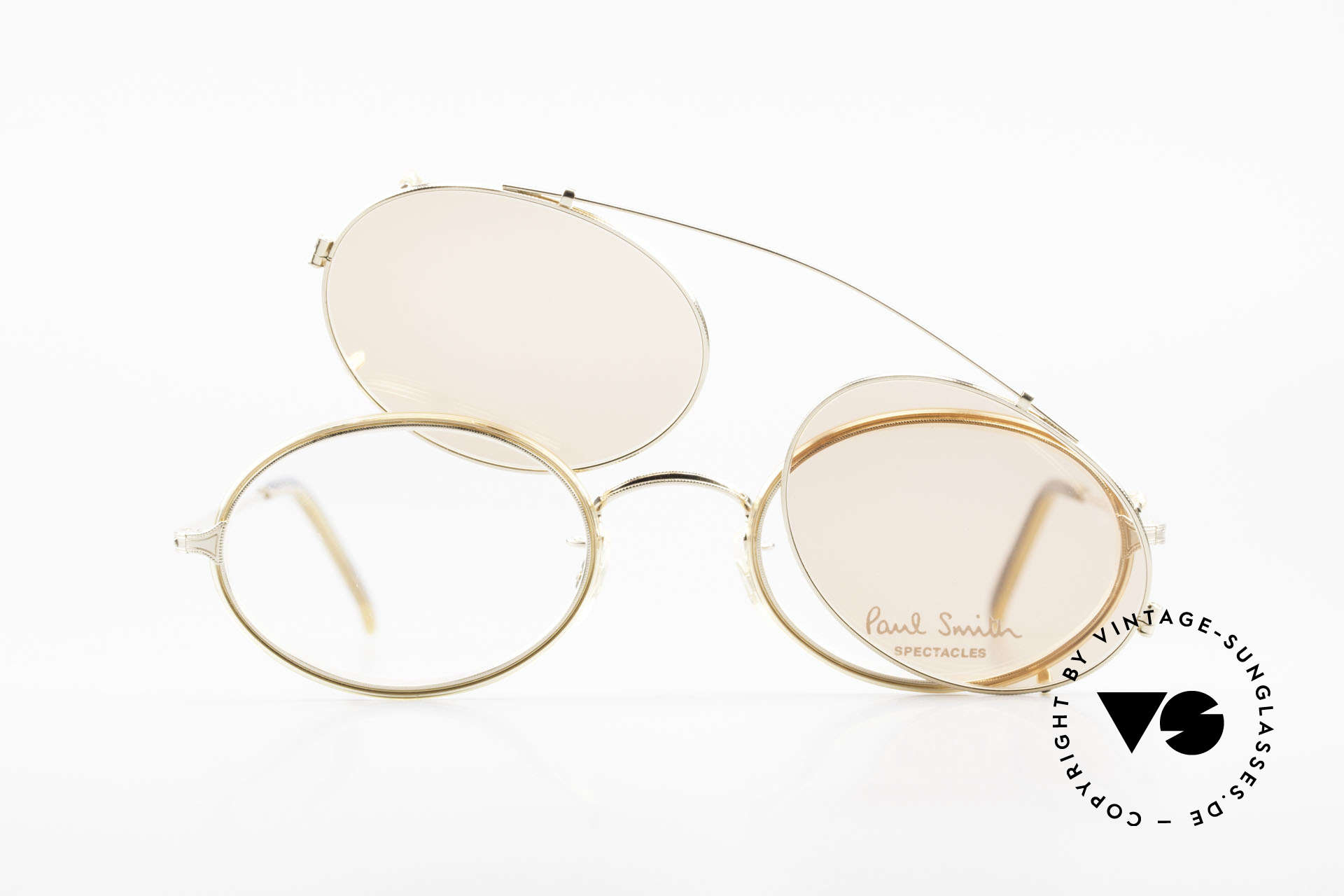 Paul Smith PSR108 Oval Vintage Frame With Clip, NO RETRO eyewear FASHION, but a unique old RARITY!, Made for Men and Women
