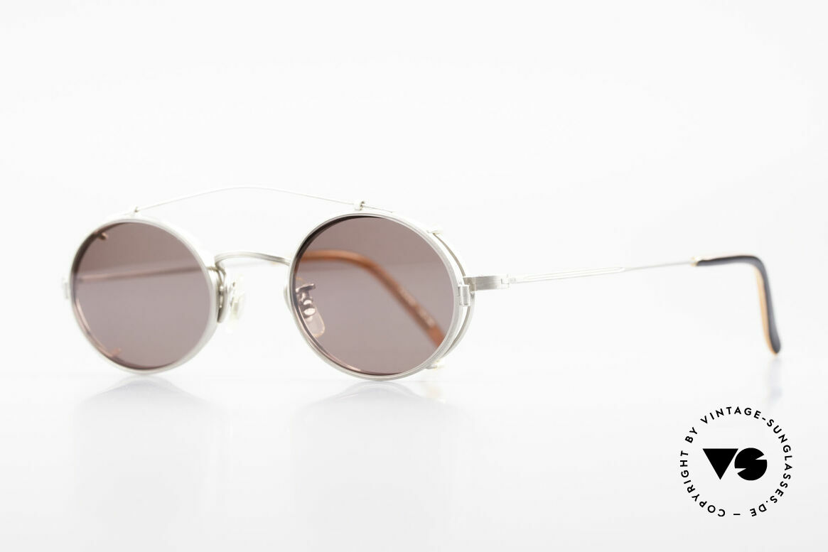 Paul Smith PS100 Oval Vintage Frame Clip On, this rare OLD Paul Smith Original is still 'made in Japan', Made for Men and Women