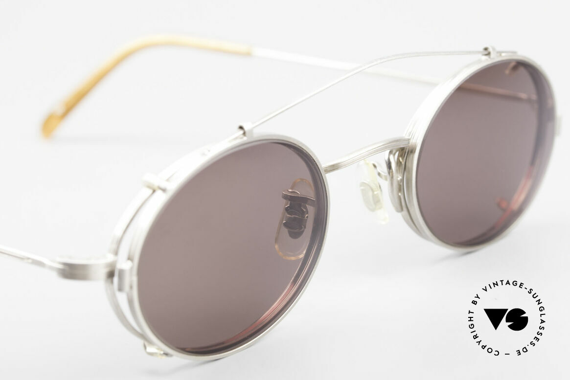 Paul Smith PS100 Oval Vintage Frame Clip On, UNWORN oval frame with practical Clip-On (100% UV), Made for Men and Women