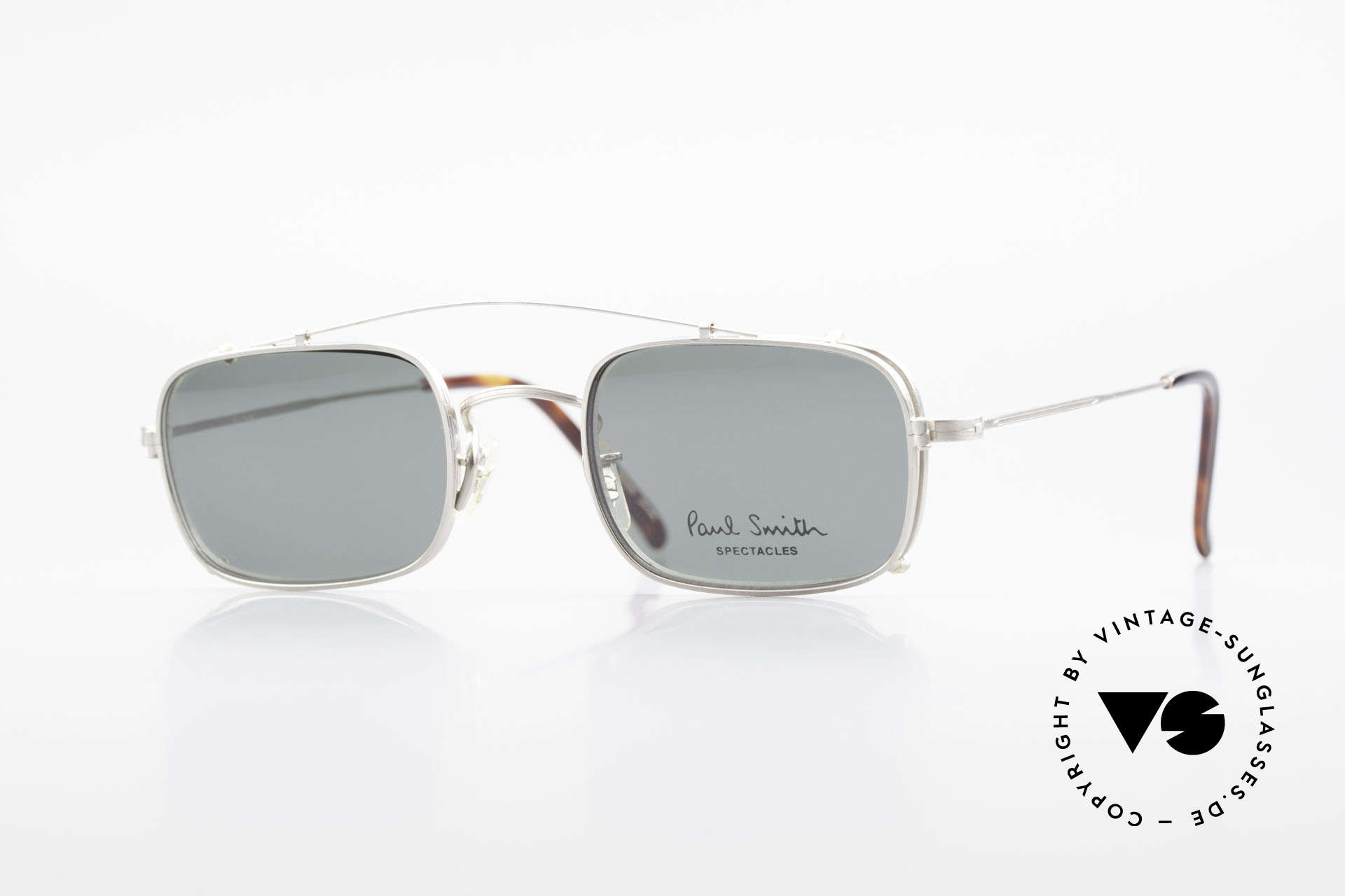 Paul Smith PS101 Square Vintage Frame Clip On, Paul Smith vintage glasses from the late 80's/early 90's, Made for Men and Women