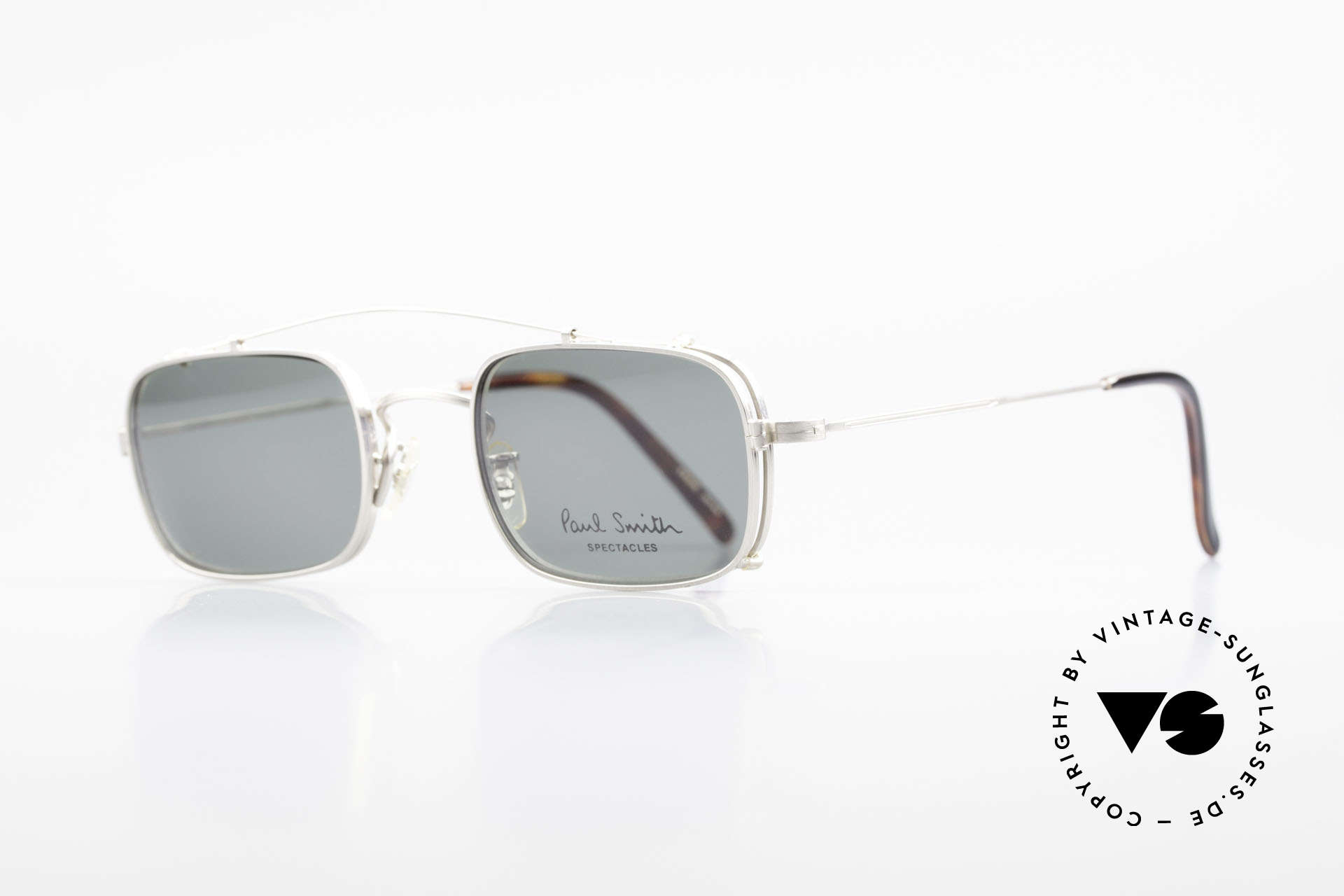 Paul Smith PS101 Square Vintage Frame Clip On, this rare OLD Paul Smith Original is still 'made in Japan', Made for Men and Women