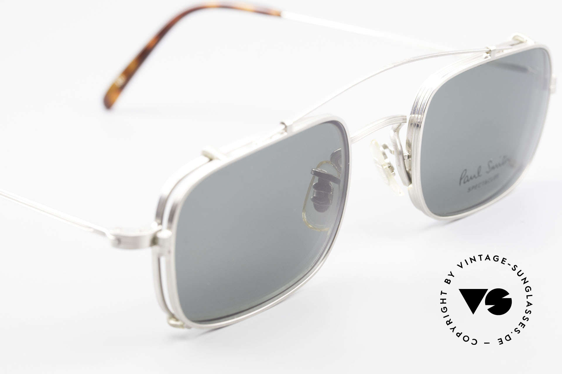 Paul Smith PS101 Square Vintage Frame Clip On, UNWORN square frame with practical Clip-On (100% UV), Made for Men and Women