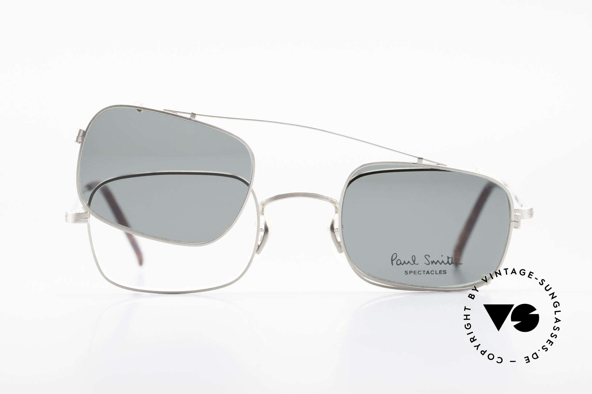 Paul Smith PS101 Square Vintage Frame Clip On, NO RETRO eyewear FASHION, but a unique old RARITY!, Made for Men and Women