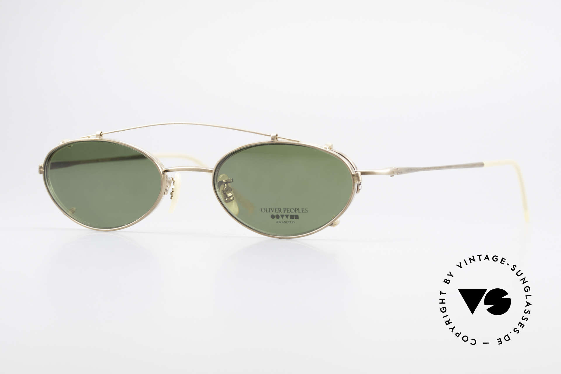 Oliver Peoples OP599 Oval Eyeglass-Frame Clip On, vintage Oliver Peoples eyeglasses from the 1990's, Made for Men and Women