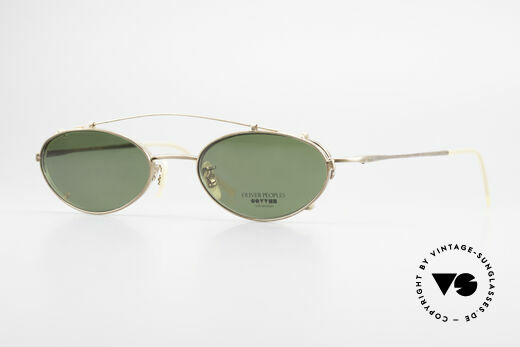 Oliver Peoples OP599 Oval Eyeglass-Frame Clip On Details