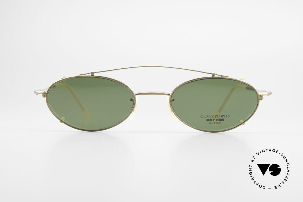 Oliver Peoples OP599 Oval Eyeglass-Frame Clip On, LUXURY glasses: a lifestyle that is distinctly L.A., Made for Men and Women