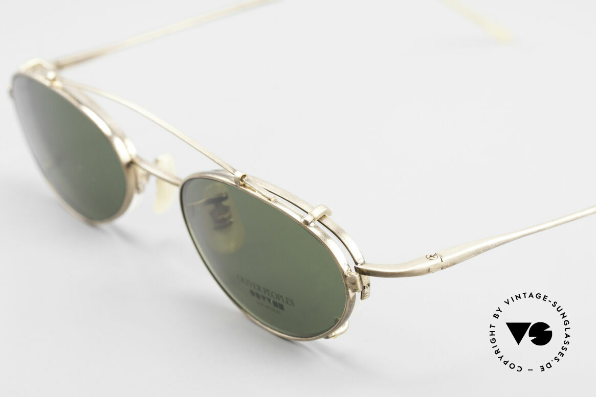 Oliver Peoples OP599 Oval Eyeglass-Frame Clip On, UNWORN; semi-rimless oval frame, made in Japan, Made for Men and Women