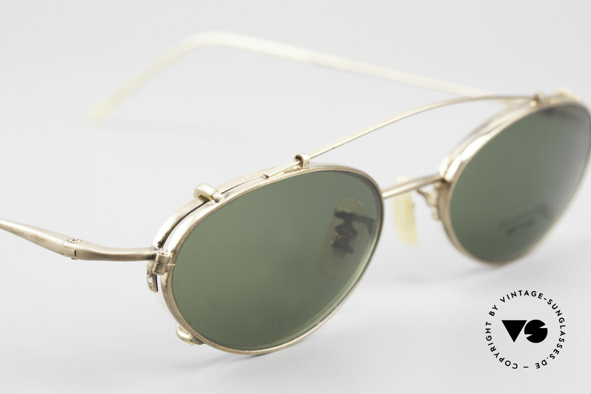 Oliver Peoples OP599 Oval Eyeglass-Frame Clip On, NO retro fashion, but a rare 20 years old ORIGINAL, Made for Men and Women