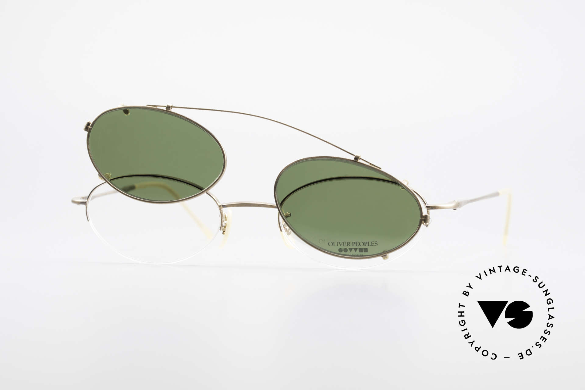 "Oliver Peoples OP599 Oval Eyeglass-Frame Clip On, O. Peoples LA = ""distinctive specs with personality"", Made for Men and Women"