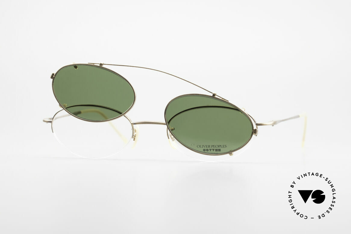 Oliver Peoples OP599 Oval Eyeglass-Frame Clip On