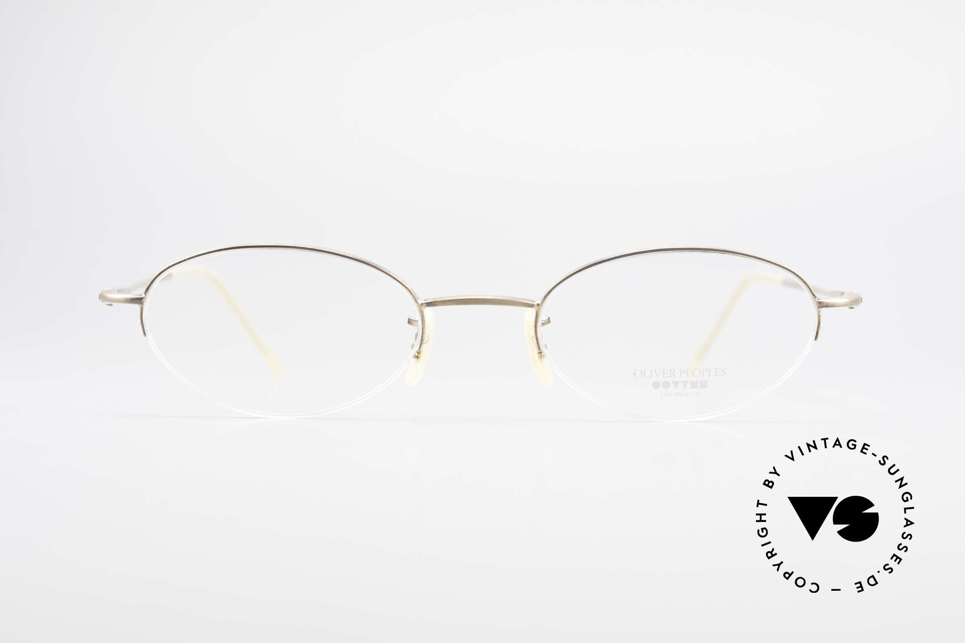 Oliver Peoples OP599 Oval Eyeglass-Frame Clip On, Size: small, Made for Men and Women