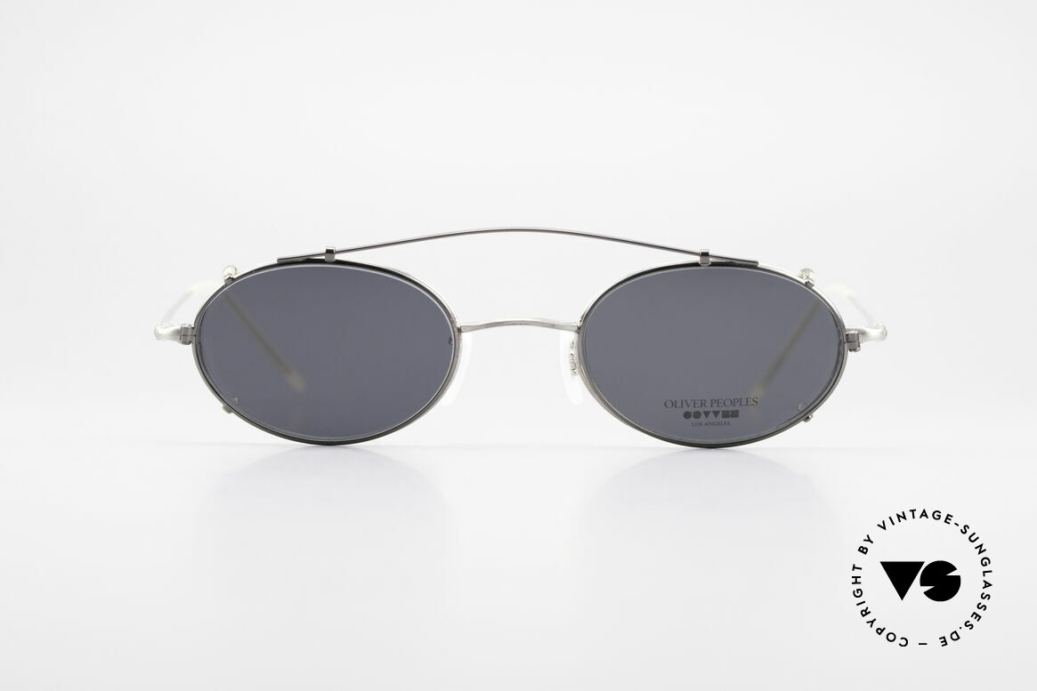 Oliver Peoples OP587 Eyeglass-Frame Oval Clip On