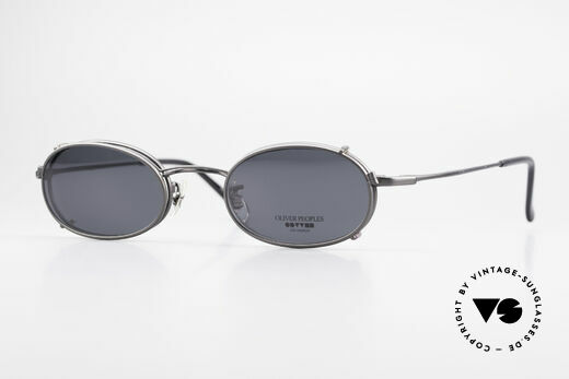 Oliver Peoples OP583 Oval 90's Frame With Sun Clip Details