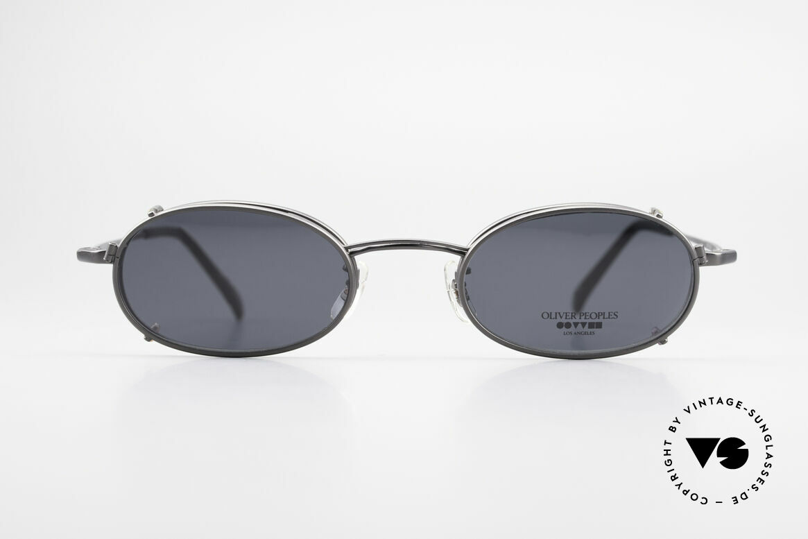 Oliver Peoples OP583 Oval 90's Frame With Sun Clip, LUXURY glasses: a lifestyle that is distinctly L.A., Made for Men
