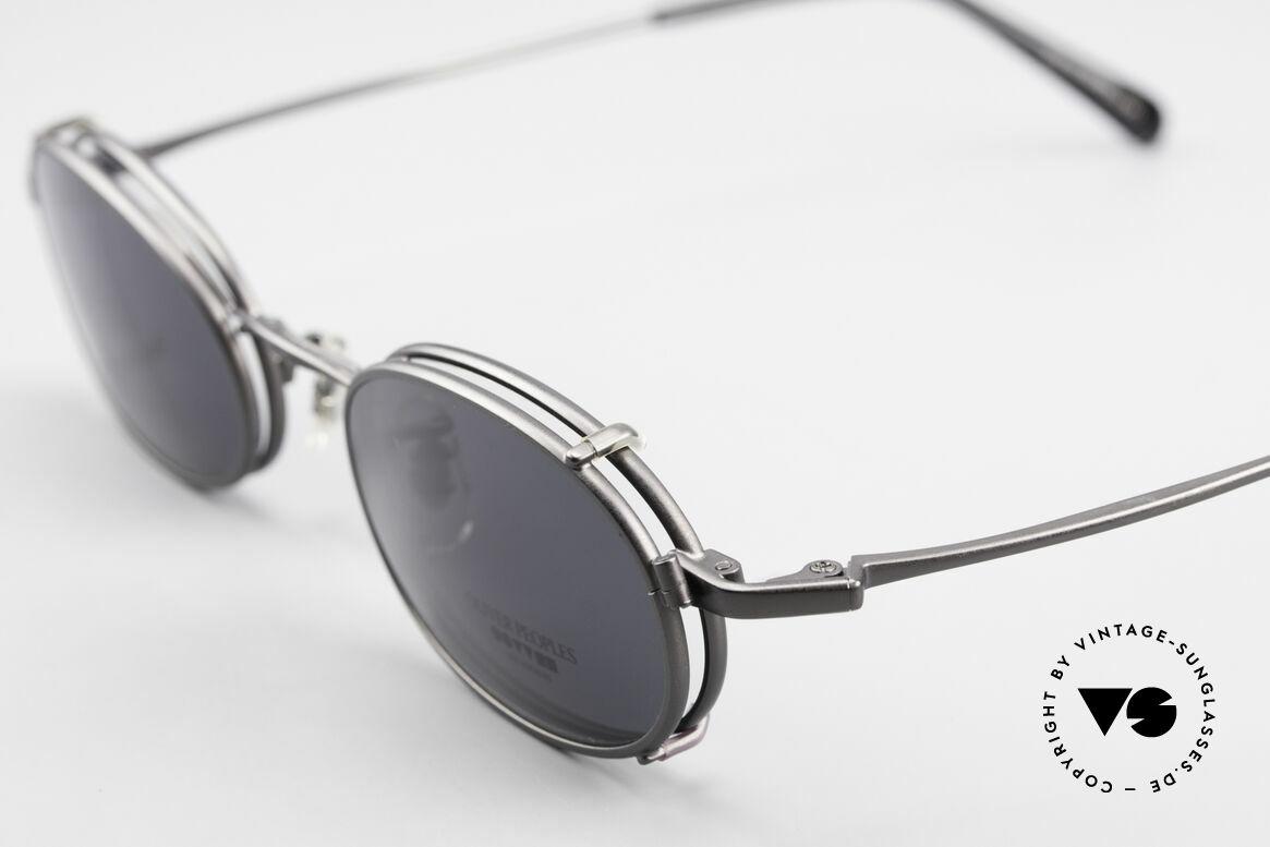 Oliver Peoples OP583 Oval 90's Frame With Sun Clip, unworn (like all our vintage Oliver Peoples glasses), Made for Men