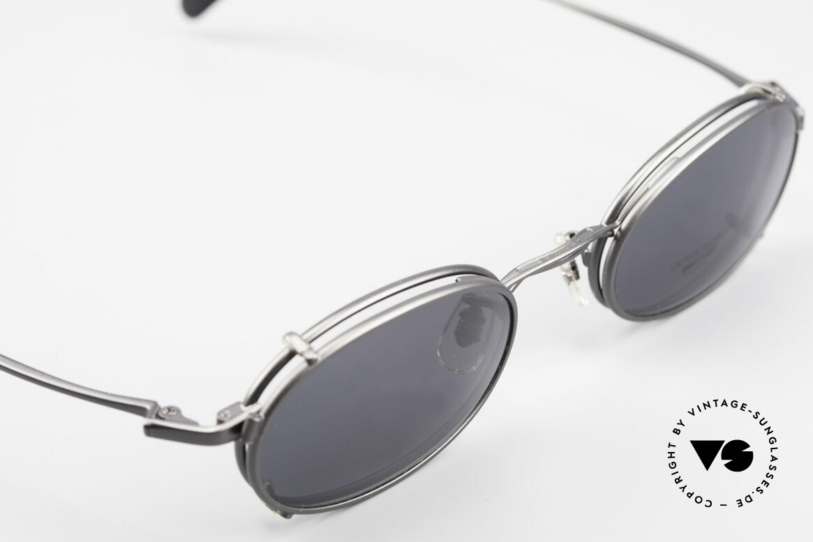 Oliver Peoples OP583 Oval 90's Frame With Sun Clip, NO retro fashion, but a rare 20 years old ORIGINAL, Made for Men