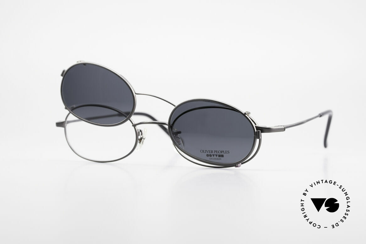 Oliver Peoples OP583 Oval 90's Frame With Sun Clip