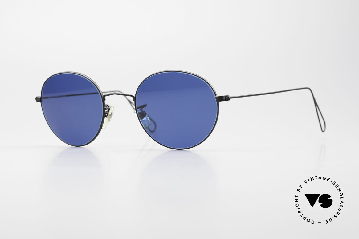 Cutler And Gross 0306 Round Vintage 90's Sunglasses, CUTLER and GROSS designer shades from the late 90's, Made for Men and Women